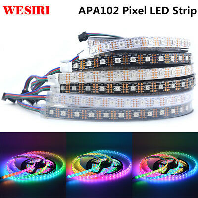 1m/5m APA102 Smart led pixel strip 30/60/144 leds/pixels/m APA102C 5050 RGB DC5V