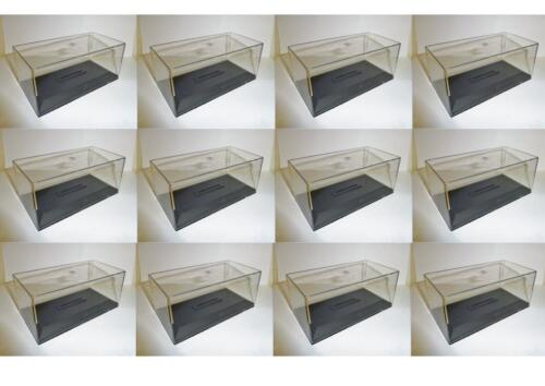 Lot 12 Boites Vitrine//Plexi avec socle pour Miniatures 1//43 Hauteur 6 cm Neuf!