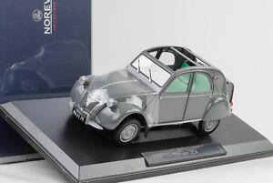 1957 Citroën Modèle 2cv Azl Malle Bombee Gris, Échelle 1:18 Norev