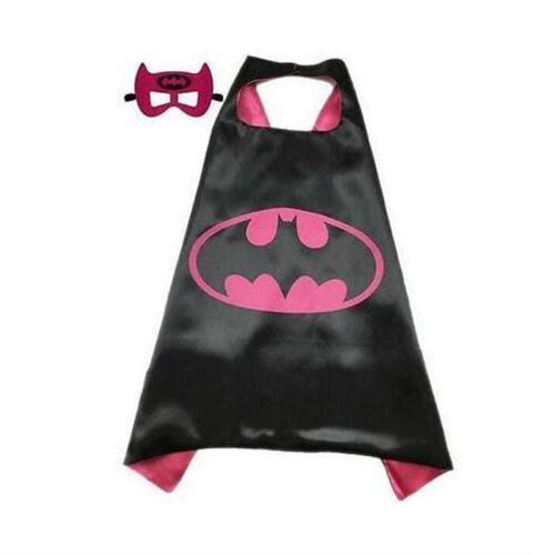 Cosplay Kostüm Batman Superhelden Umhang Kapuze Kinder Heros Mit Maske Karneval