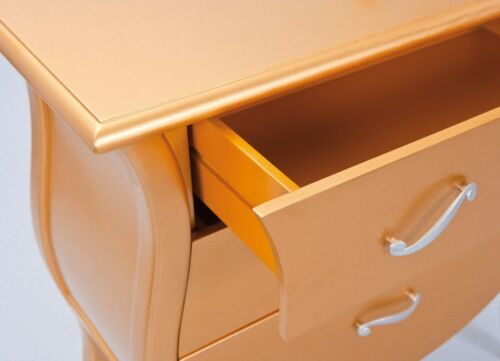 Kommode Barema Schubladenschrank Schlafzimmer Schrank Highboard Anrichte gold
