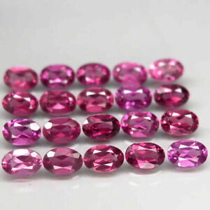 11.96 Carats 6x4mm 20pcs Lot NATURAL Rhodolite GARNET Purplish Pink Malawi