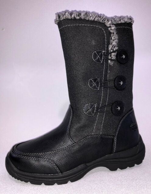 Totes Womens Nicole Black Snow BOOTS