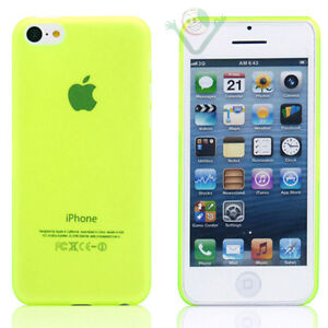 Custodia-super-sottile-0-3mm-per-Apple-iPhone-5C-giallo-trasparente-ultra-SLIM