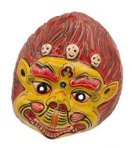 Maschera Nepalese Demon Devil Indra Jatra Festival Nepal Carta Mache Mask 2428