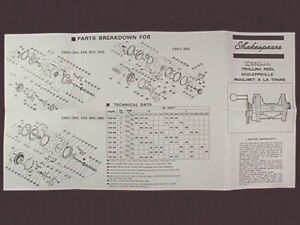 details about shakespeare sigma trolling reel owner manuals reproPenn Reel Parts Diagram In Addition Shakespeare Reel Parts Diagram #4