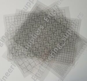 Scale Bullseye Target Grid Printable Clear Plastic A4 Sheet 10mm Radius Division