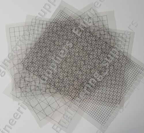 Clear SQUARE Grille imprimable Feuille A4 5, 10, 12.7, 20, 25, 30 mm - 1, 5, 10 Packs