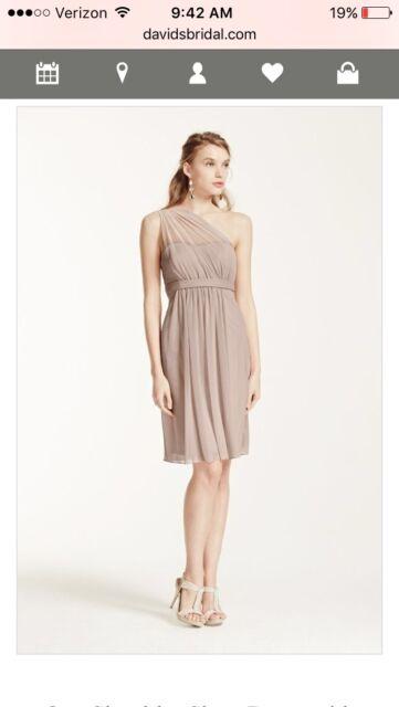 bf6df8719a David s Bridal Regency One Shoulder Short Dress Size 14 Style F15607 for  sale online