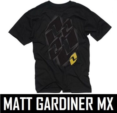 ONE Industries Kids Youth T-Shirt Shutter Tee Jet Nero Ragazzi Motocross MX