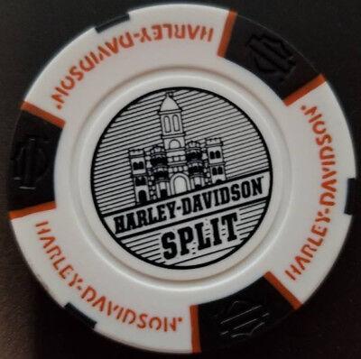 Harley Davidson International Poker Chip Black//Orange HD SPLIT~Split Croatia