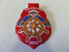 Vintage 1950's Tin Litho Clicker SEA CAPTAIN Red Badge Shield Japan