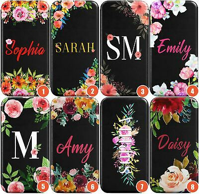 Flower wallet flip cover monogram custom personalized case for