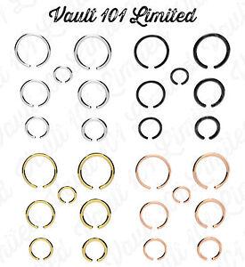 Faux-piercing-anneau-nez-oreille-levre-corps-argent-noir-or-tailles-au-choix