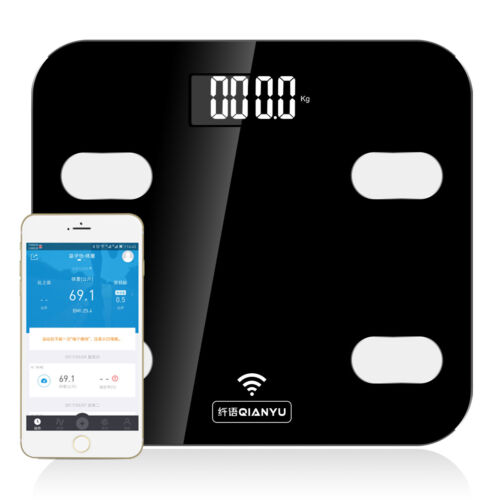Bluetooth DIGITAL Body Fat Bathroom Weight Scale with iOS /& Android App Wireless