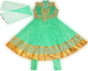 Girls-Designer-Salwar-Kameez-Indian-Party-Dress-Light-Green-USA-FAST-SHIPPING