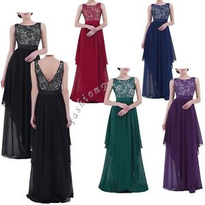 52642247598d Image is loading US-Women-Formal-Wedding-Bridesmaid-Long-Evening-Party-