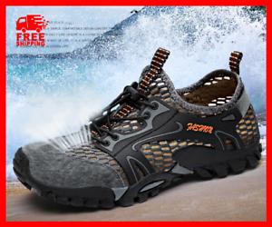 Men/'s Mesh Breathable Outdoor Climbing Hiking Non-slip Waterproof Water Shoes Sz