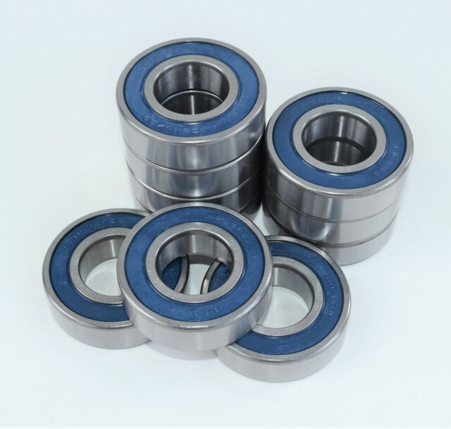 6201RS NEW 6201-2RS PREMIUM RUBBER SEALED BALL BEARING LOT OF 10 PCS 12X32X10
