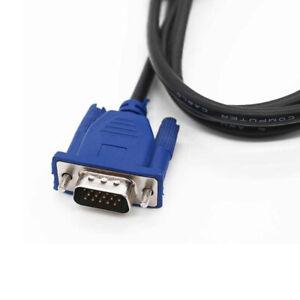 VGA SVGA Monitor 15 Pin Maschio a Maschio Cavo per PC LCD PLASMA PROIETTORE