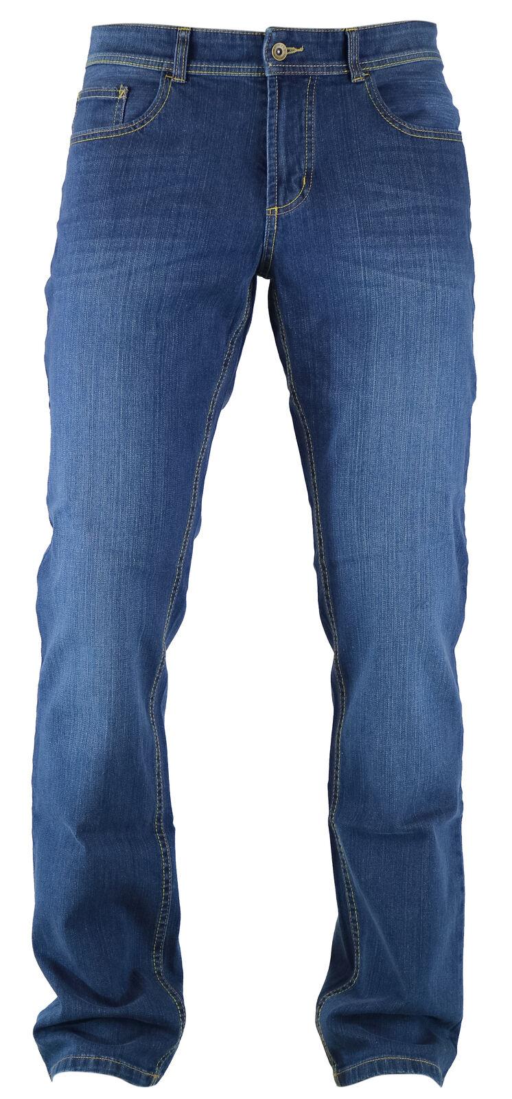 Hattric Hardy Medio bleu Used Look Hombre Five Pocket Denim Vaqueros 688915