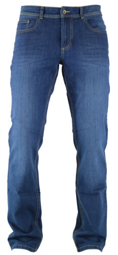 HATTRIC Hardy Mid Blue LOOK VISSUTO UOMO Five Pocket Denim Jeans 688915 9633 .88