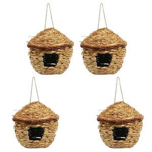 4x Vogel Nisthöhle / Vogelhaus / Vogelhäuschen, Geschenkidee für Kinder oder