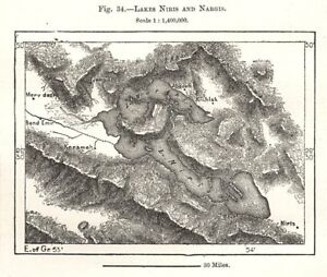 Iran Lakes Bakhtegan And Tashk Sketch Map 1885 Old Antique Plan Chart Demand Exceeding Supply