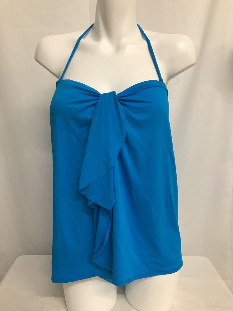 RALPH LAUREN LAGUNA SOLIDS FLYAWAY STRAPLESS ONE PIECE SWIMSUIT blueE SZ 6  123