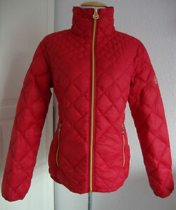 michael kors daunenjacke m420709ftk damen lightweight packable down rot gr l neu ebay