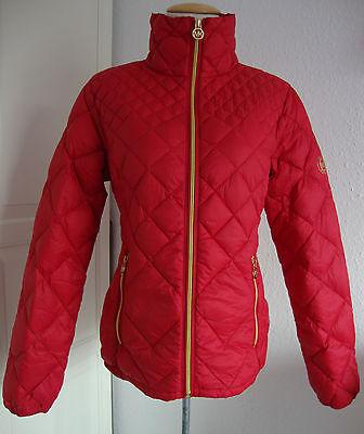 MICHAEL KORS Daunenjacke M420709FTK Damen Lightweight Packable Down Rot Gr.L NEU | eBay