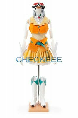 GUMI Yellow and Orange High Quality Cosplay Costume from VOCALOID