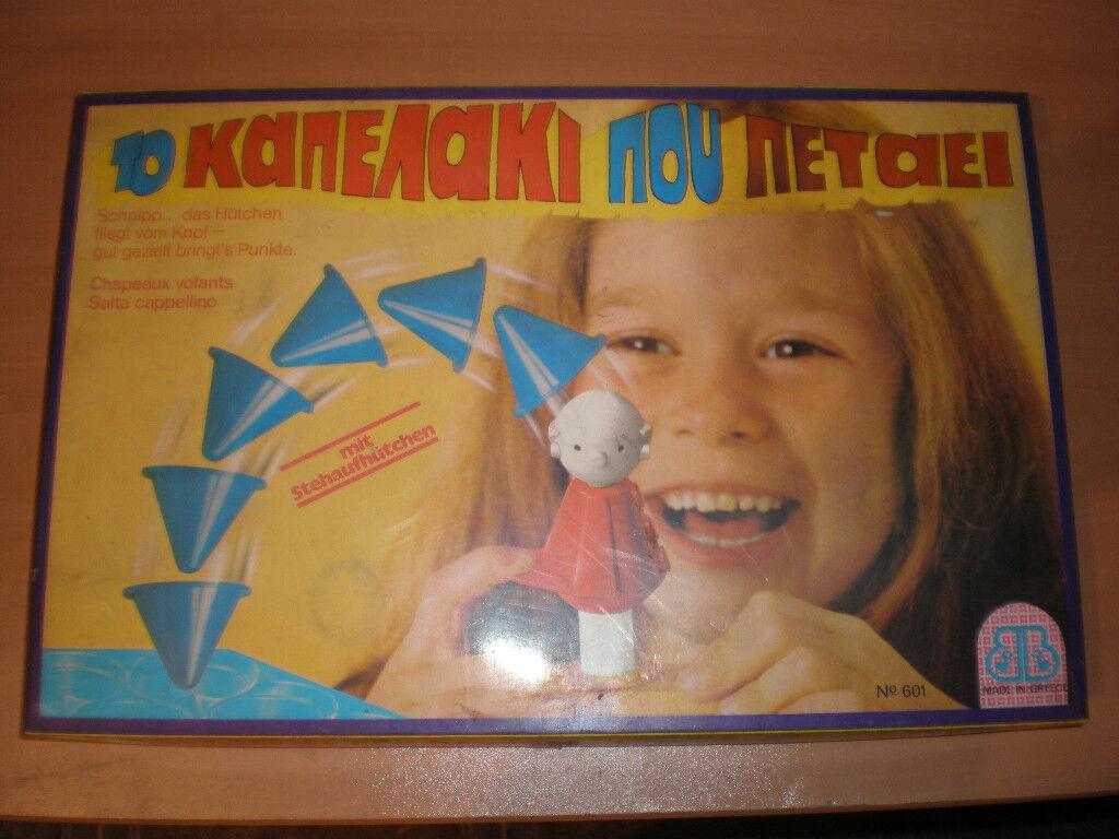80's VINTAGE Greek Board Game THE FLYING HAT SEALED MINT