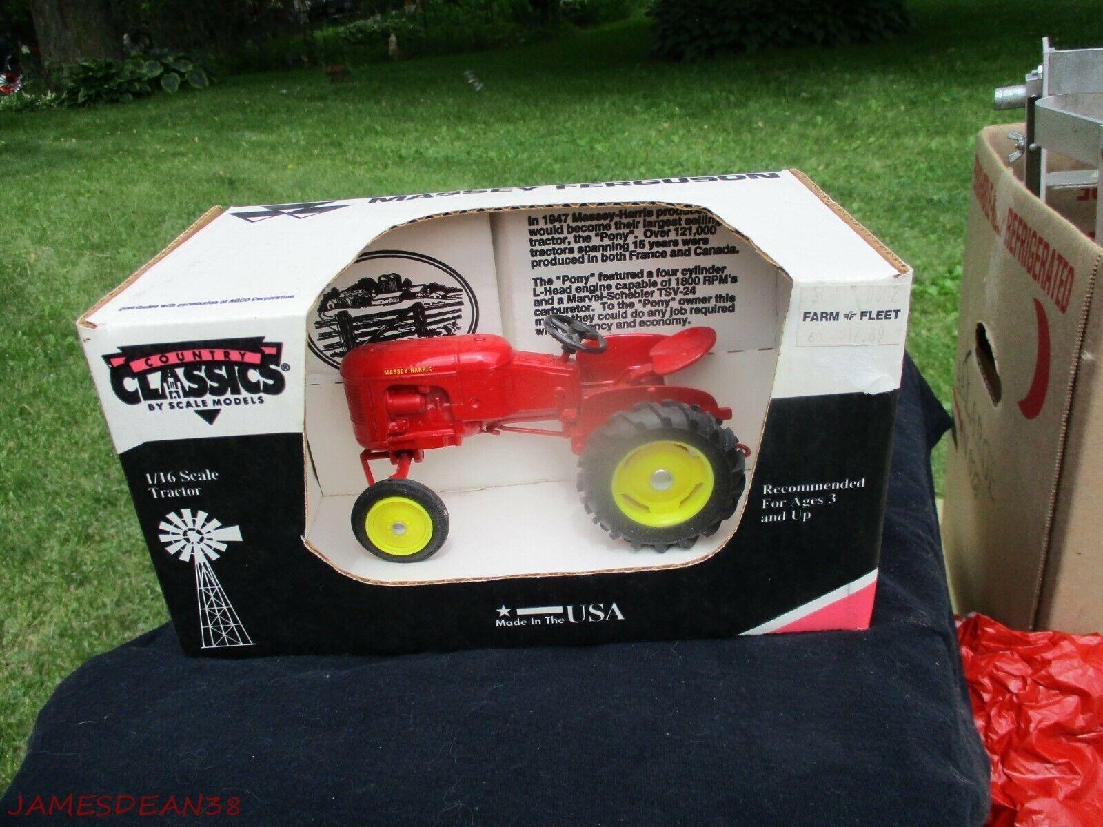 Land Classics 1947 Massey-Harris Pony Tractor Farm Toy 1 16 SCALmodeLLER ny