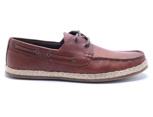 Red Tape Ruskin Tan Leather Mens Casual Boat Shoes Free UK P/&P RRP £50!