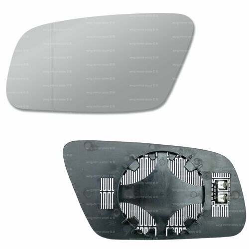 Left side for Audi A3 2000-2003 Wide Angle heated wing door mirror glass