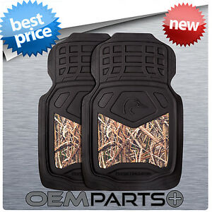 2X DUCKS UNLIMITED FRONT FLOOR MATS SHADOW GRASS BLADES CAMO TRUCK