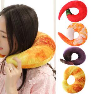 Am-BH-KD-Shrimp-Meat-Bread-Eggplant-Chilli-U-Shaped-Travel-Neck-Pillow-Cushio