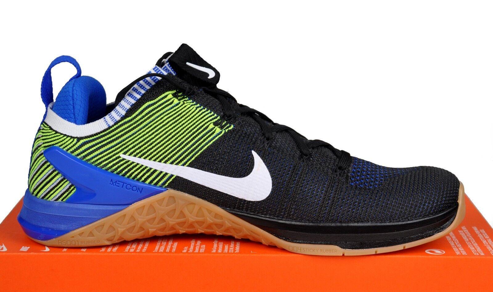 separation shoes 1ad93 55e3b ... Nike Metcon DSX Flyknit Flyknit Flyknit 2 Cross Training Black Blue  924423-006 Men Sz ...