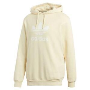 Sur Pull Détails Originals Adidas Trefoil Confortable Chaud Hommes Jaune Capuche Overhread PkwOXn80N