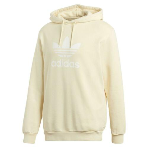 adidas ORIGINALS MEN/'S YELLOW PULLOVER HOODIE WARM COMFY OVERHREAD TREFOIL NEW
