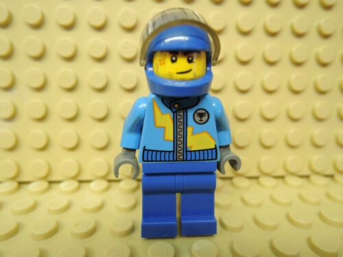 LEGO Figur Racers Rennfahrer dark azure Jacke rac055  10673