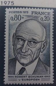 SincèRe Timbre Stamp France 1975 Yt 1826 Neuf Robert Schuman Vente De Fin D'AnnéE