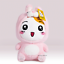 """miniature 1 - Ebichu Plush Official Licensed Pink Rabbit Soft Stuffed Doll Toy 10"""""""