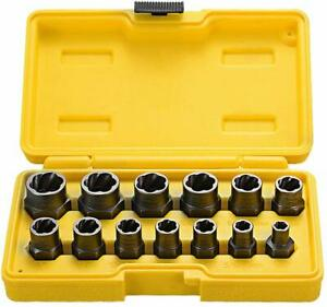 Impact-Wrench-Bolt-Nut-Extractor-Set-of-13-Remover-Damaged-Rusted-Socket-Tools