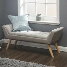 Item 2 Shabby Chic Hallway Bench Furniture Bedroom Ottoman Tufted Seat  Wooden Legs New  Shabby Chic Hallway Bench Furniture Bedroom Ottoman Tufted  Seat ...