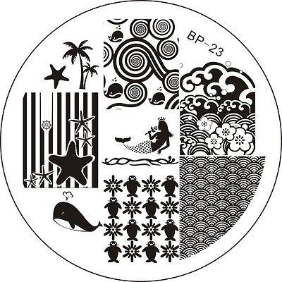 BORN PRETTY #01-50 Nail Art Stamp Stamping Image Template Plates Nail Art Tool