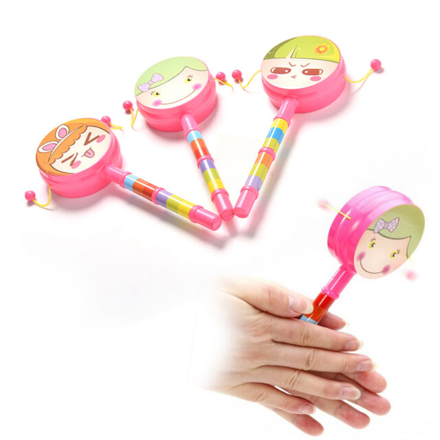 1X Rattle Drum Smile Baby Kid Percussion Educational Musical Instrument Toy BDAU