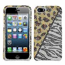 For iPhone 5 5S SE Crystal Diamond BLING Hard Case Snap On Phone Cover Hottie