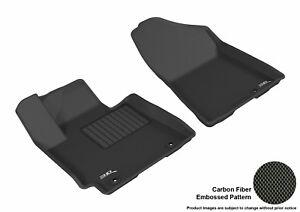 For 2016-2018 Hyundai Tucson R1 KAGU Carbon Pattern Black All Weather Floor Mat